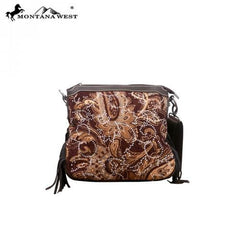 MW47-8295 Montana west Western Fringe Collection Messenger Bag