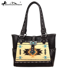 MW48-8248 Montana West Western Aztec Concho Collection Handbag