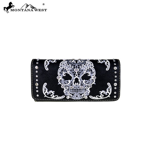 MW494-W002 Montana West Sugar Skull Collection Wallet