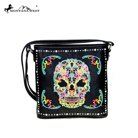 MW494-8287 Montana West Sugar Skull Collection Crossbody Bag