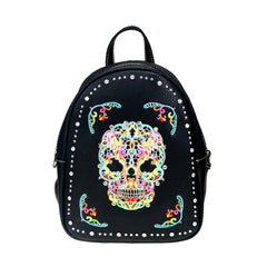 MW494G-9110 Montana West Sugar Skull Collection Backpack
