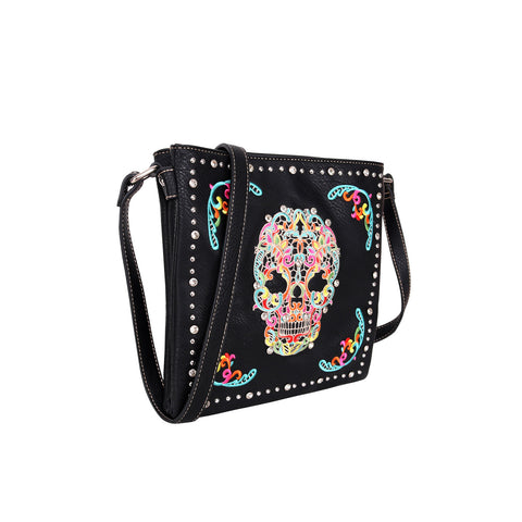 MW494G-9360 Montana West Sugar Skull Collection Concealed Handgun Crossbody