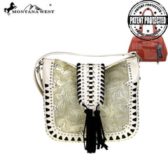MW518G-8360 Montana West Embossed Collection Concealed Carry Crossbody Bag