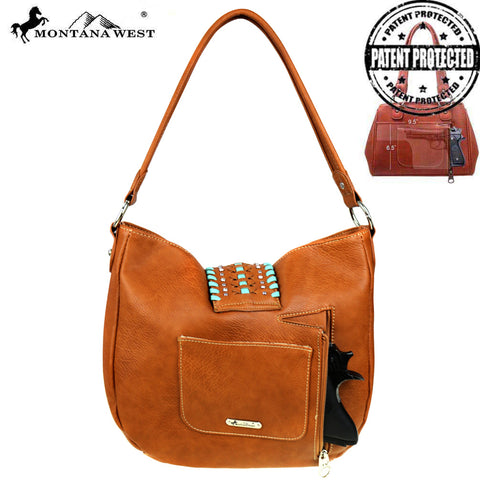 MW518G-8491 Montana West Embossed Collection Concealed Carry Hobo