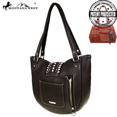 MW518G-8573 Montana West Embossed Collection Concealed Carry Tote