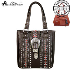 MW565G-8559 Montana West Buckle Collection Concealed Tote