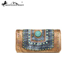 MW575-W018 Montana West Concho Collection Wallet/Wristlet
