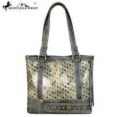 MW589-8014 Montana West Concho Collection tote