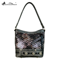 MW589-8308 Montana West Concho Collection Hobo