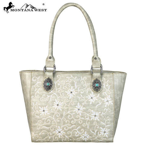 MW590-8305 Montana West Embroidered Collection Tote