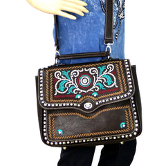 MW594-8101 Montana West Embroidered Collection Top Handle Satchel