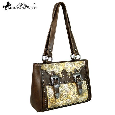 MW615-8239 Montana West Buckle Collection Tote