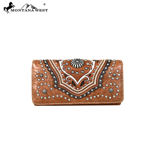 MW629-W018 Montana West Concho Collection Wallet/Wristlet