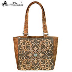 MW632-8559 Montana West Embroidered Collection Tote Bag