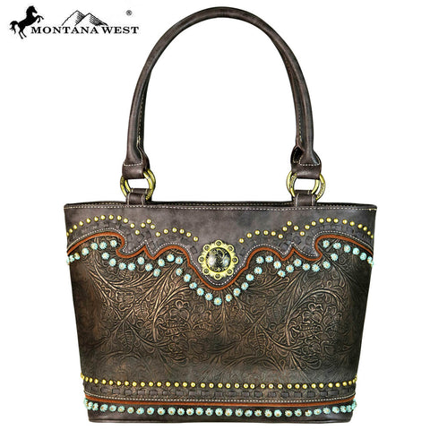 MW634-8317 Montana West Concho Collection Tote