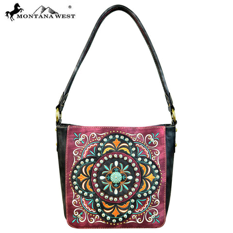 MW637-8251 Montana West Embroidered Collection Hobo Bag