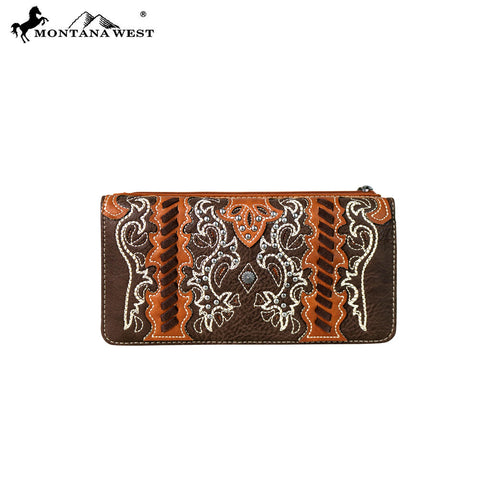 MW640-W021 Montana West Western Concho Collection Wallet