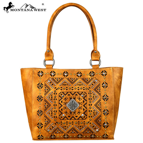 MW642-8357 Montana West Concho Collection Tote