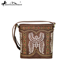 MW643-8360 Montana West Embroidered Collection Crossbody Bag