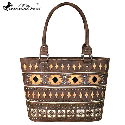 MW645-8317 Montana West Aztec Collection Tote