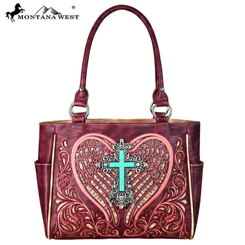 MW648-8248 Montana West Embroidered Collection Tote