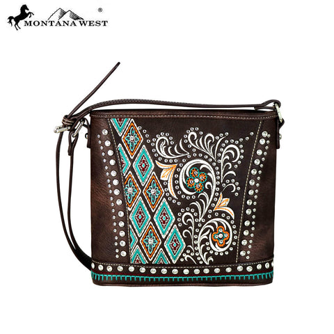 MW649-8360 Montana West Embroidered Collection Crossbody