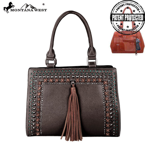 MW650G-8250 Montana West Cut-Out Collection Concealed Carry Satchel/Crossbody