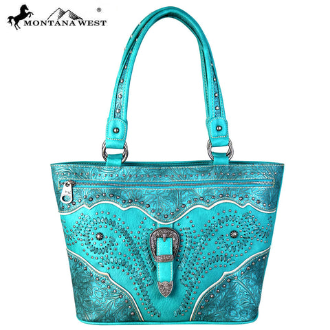 MW653-8317 Montana West Buckle Collection Tote