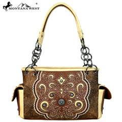 MW654-8085 Montana West Concho Collection Satchel