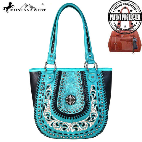 MW655G-8305 Montana West Concho Collection Concealed Carry Tote