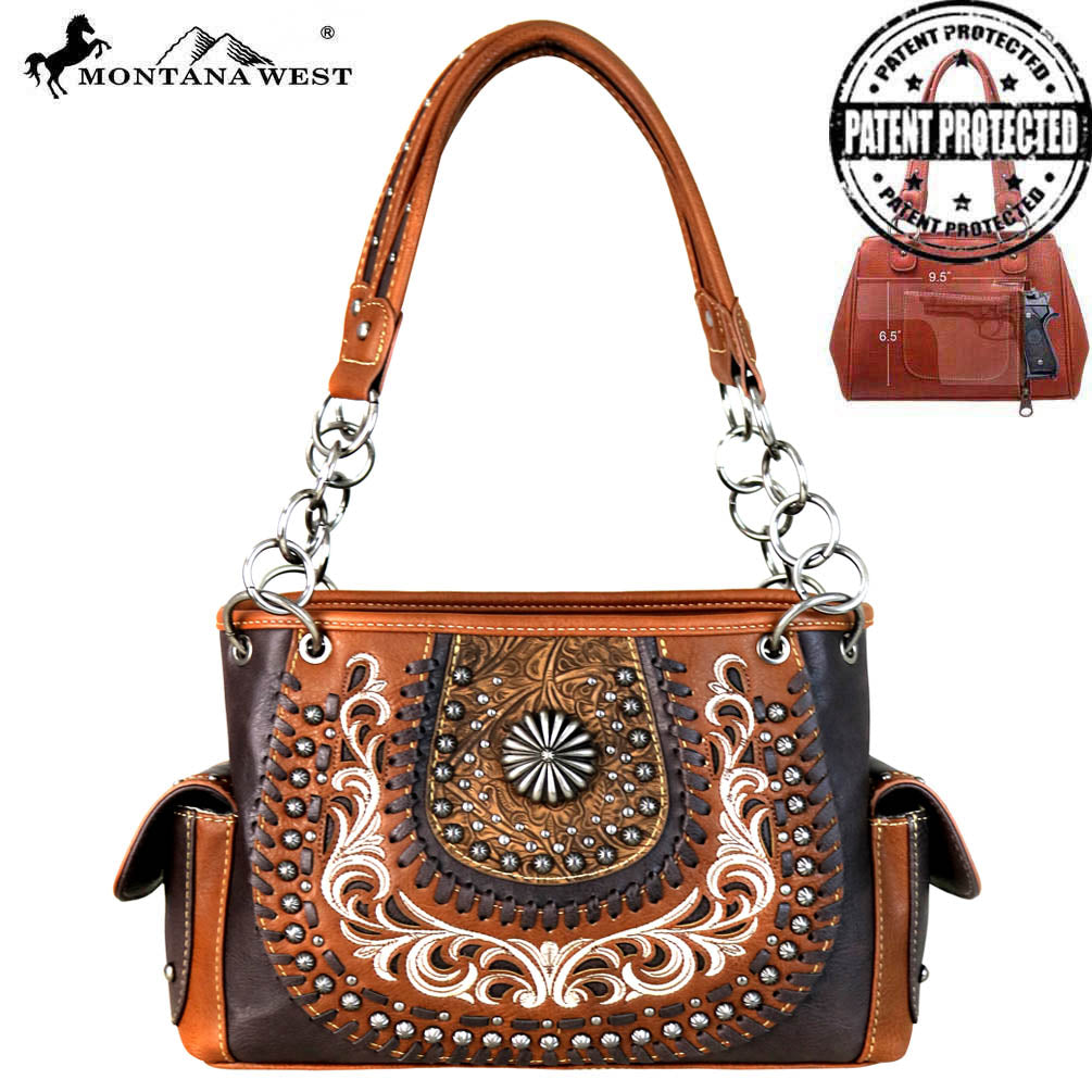 33c20beb3ebb MW655G-8085 Montana West Concho Collection Concealed Carry Satchel