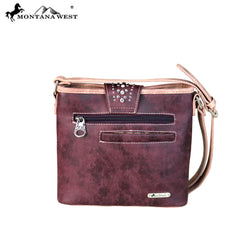 MW656-8360 Montana West Buckle Collection Crossbody Bag