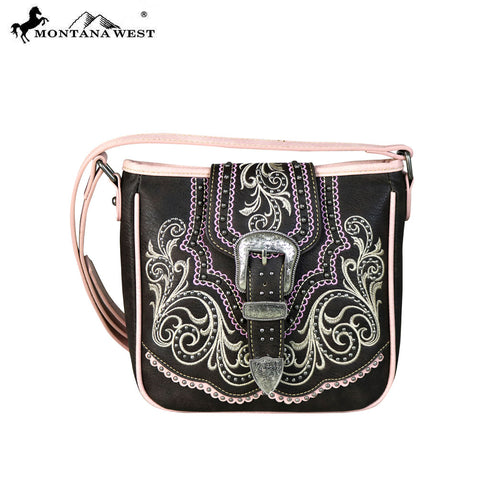 MW657-8360 Montana West Buckle Collection Crossbody