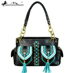 MW659-8085 Montana West Concho Collection Satchel