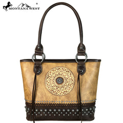 MW661-8014 Montana West Tooled Collection Tote