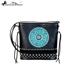 MW661-8360 Montana West Tooled Collection Crossbody