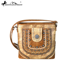 MW667-8360 Montana West Concho Collection Crossbody Bag