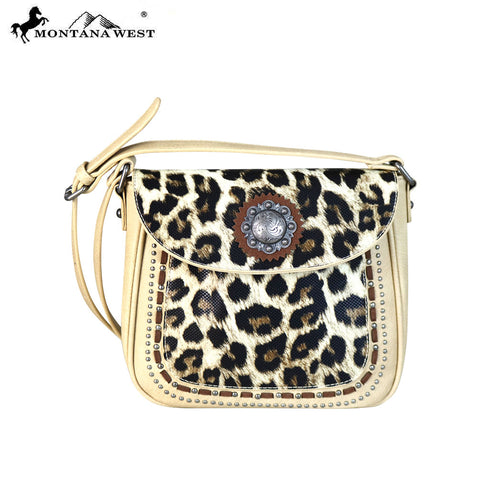 MW668-8360 Montana West Concho/Safari Collection Crossbody Bag