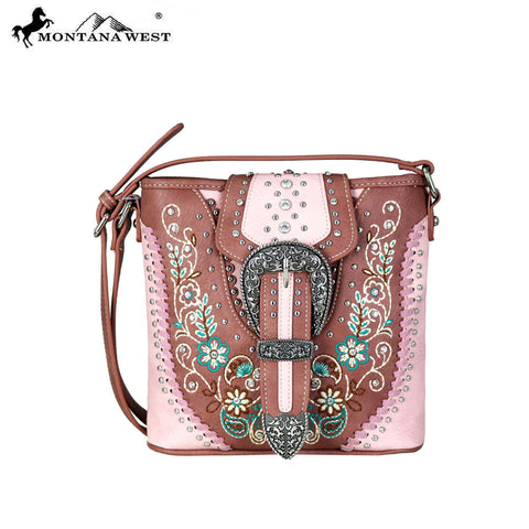 MW671-8360 Montana West Buckle Collection Crossbody