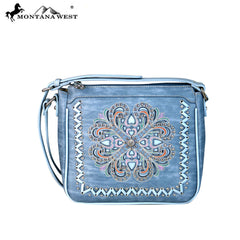 Montana West Concho/Cut-out Embroidered Crossbody