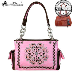 Montana West Concho/Cut-out Embroidered Satchel
