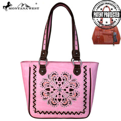 Montana West Concho/Cut-out Embroidered Tote
