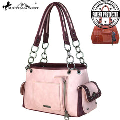MW677G-8085 Montana West Aztec Collection Concealed Carry Satchel