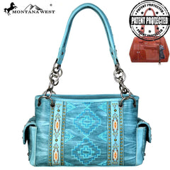 MW682G-8085 Montana West Aztec Collection Concealed Carry Satchel