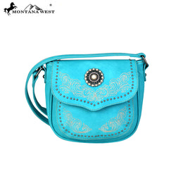 MW683-8360 Montana West Concho Collection Saddle Bag