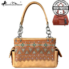 MW684G-8085 Montana West Aztec Collection Concealed Carry Satchel