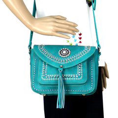 MW686-8360 Montana West Concho Collection Crossbody Bag