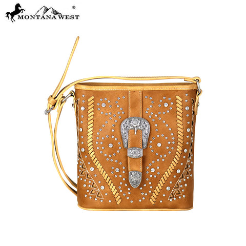 MW687-8360 Montana West Buckle Collection Crossbody Bag