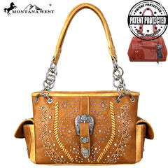 MW687G-8085 Montana West Buckle Collection Concealed Carry Satchel