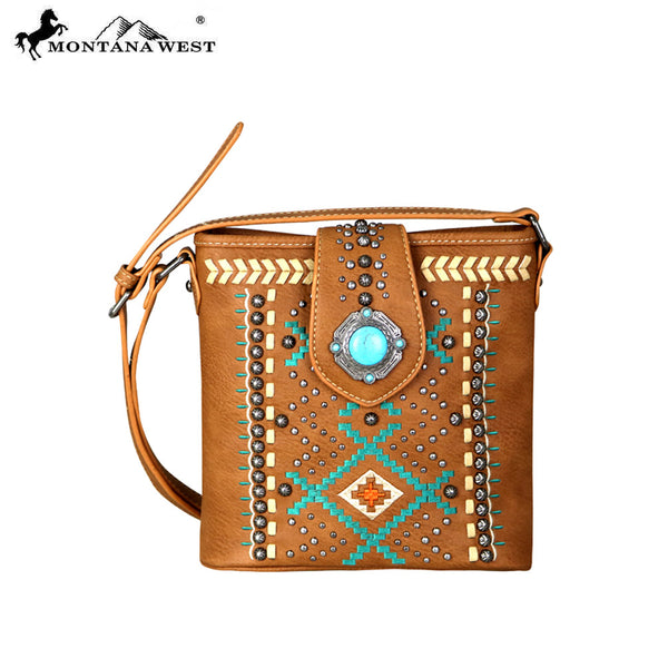 Mw690 8360 Montana West Aztec Collection Crossbody